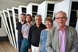von hinten nach vorne: Tobias Grill, Daniel Finke, Peter Froundjian, Johanna Jürgensen, Wolfgang Rathert